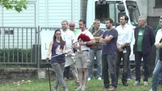 #Pontida2015 -  Matteo Salvini rende omaggio ai militanti scomparsi