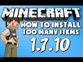 ★ How To Install Too Many Items for Minecraft 1.7.10
