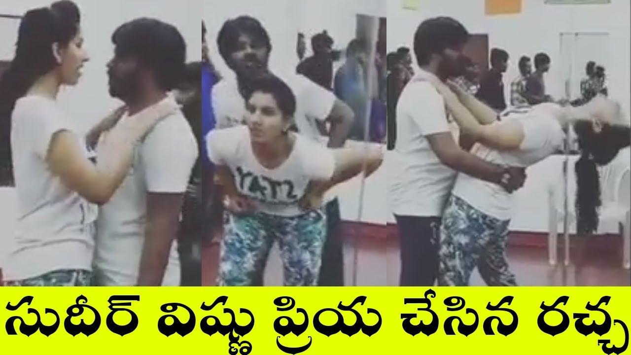 Download Sudigali Sudheer and vishnu priya Hot dance practice video