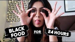 Eating Only BLACK FOOD for 24HRS  Aashna Hegde