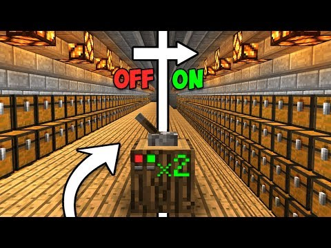Retractable MASS STORAGE System! - Minecraft Tutorial