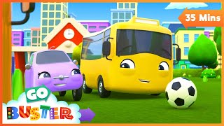 Paint & Play with Mommy - I Love My Mommy | Go Buster | Baby Cartoons | Kids Videos | ABCs and 123s