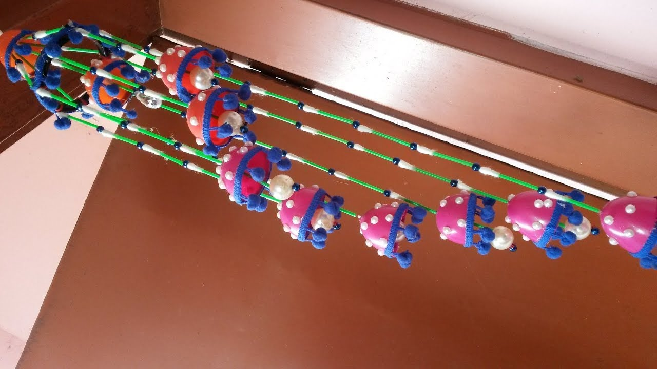 Amazing Beaded Wind Chime For Home Decor How To Make Door Wall Hanging With Cotton Buds