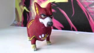 Flash Corgi 3D Printed Figurine