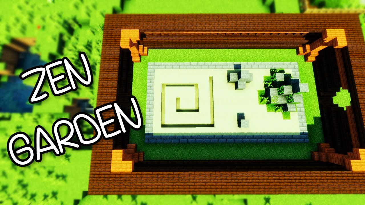 minecraft - gardening 101 - zen garden - tutorial #4 - youtube