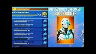 "Fortnite ""Block Buster"" Challenge Unlocked! New Block Buster Skin FREE!"