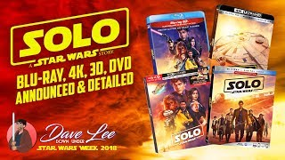 SOLO: A STAR WARS STORY - Blu-ray, 4K, 3D, DVD Announced & Detailed