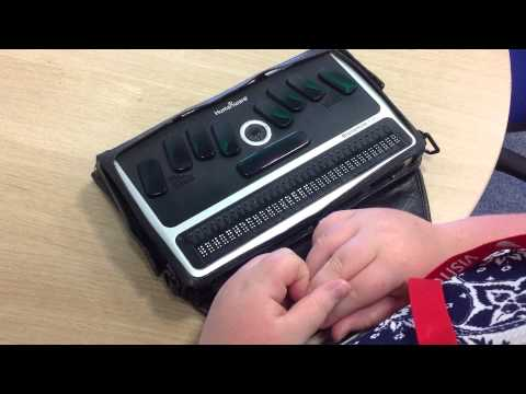The Braillenote Apex- How the Refreshable Braille Display Works