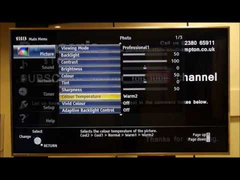 Panasonic Viera TV Advance Settings isfccc