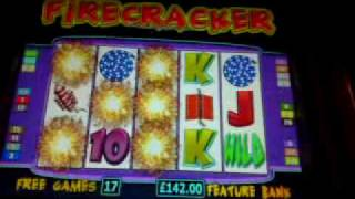 Firecracker Fruit Machine - 5 Bomb Feature!! £500 Jackpot B3
