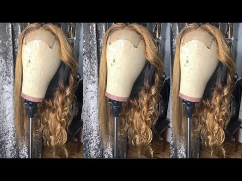 Ash Blonde Wig With Highlights And Lowlights From Black Hair| Very Detailed Tutorial | Unice Hair