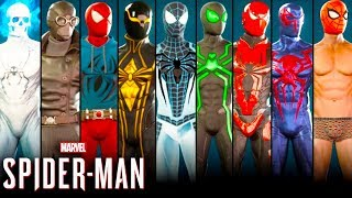 Spiderman PS4 All Suits Costumes Unlocked + Free Roam Skins (Spider Suits) 1080p