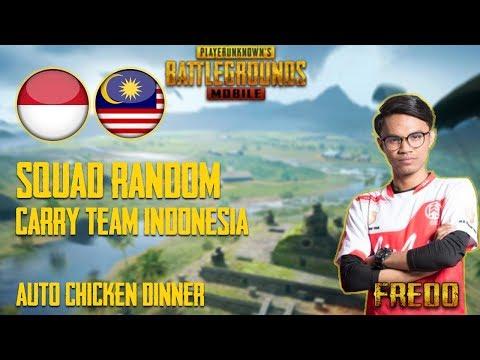 Squad Random!! Player Indonesia Terkejut Tengok Skill Fredo Sameon   PUBG Mobile Malaysia