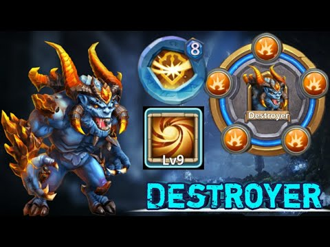 Destroyer   30 BT   9/9 Sacred Light In Action   Hard To Kill😎😎   GamePlay    Castle Clash