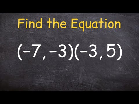 Find the equation of a line through two points using slope intercept form