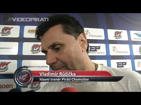 4. čtvrtfinále Generali play-off TELH: Piráti Chomutov - HC Oceláři Třinec 2:1 pr. ohlasy trenérů