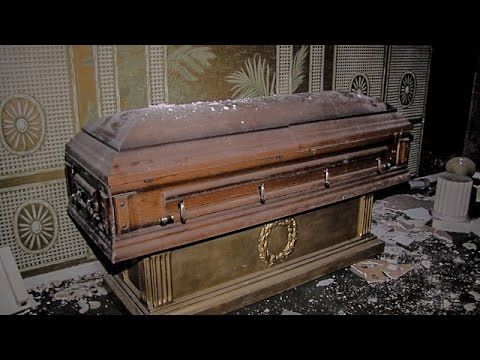 Thumbnail: ABANDONED FUNERAL HOME WITH CASKETS/COFFINS