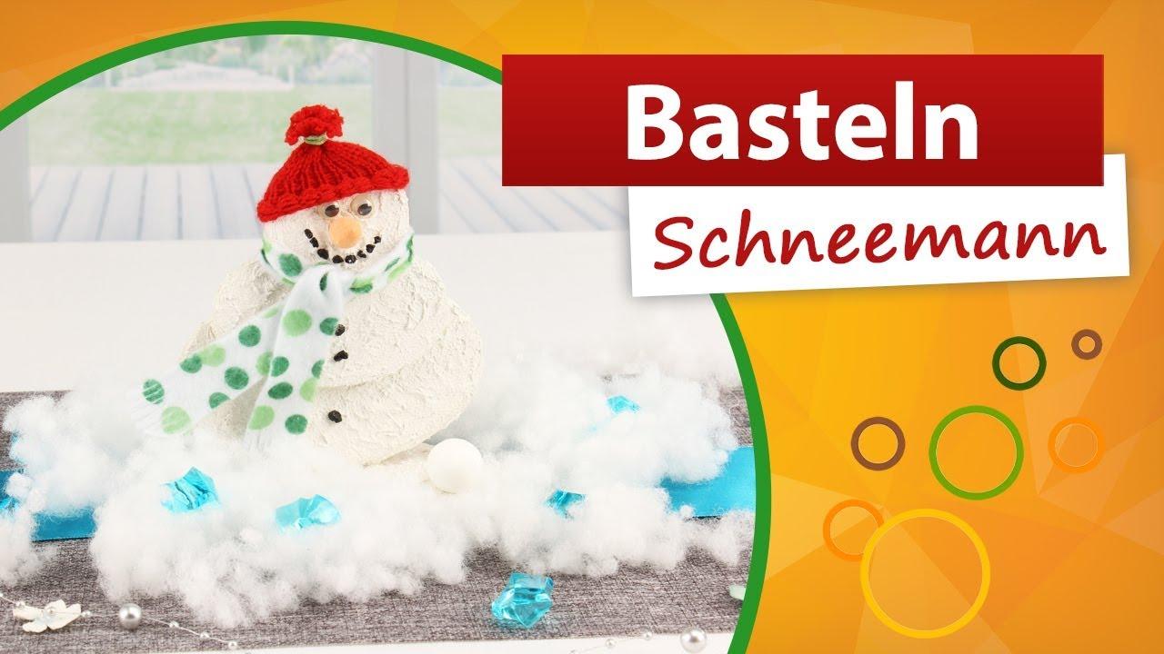 ⁂ Schneemann basteln aus Holzscheiben ⁂ trendmarkt32 Bastelidee für die  Weihnachtszeit / Winterzeit
