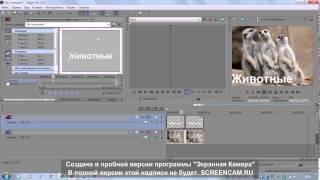 Как делать самое простое видео в программе Sony vegas pro 10(, 2015-03-12T14:04:25.000Z)