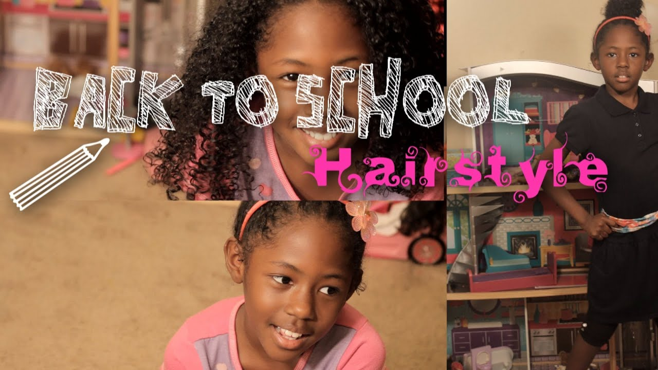 Back To School Hairstyle Quick And Easy Curly Bun natural hair  YouTube