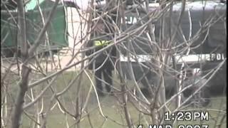 Motocykliści oraz interwencja policji wobec pijaka. Łowicz,4.03.2007 r.