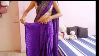 How To Wrap A Saree-How To Drape A Saree On Backless Blouse/Wear Saree Look Slim thumbnail