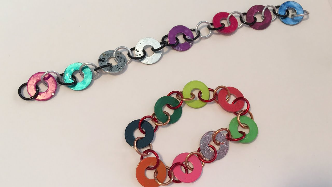 How To Make Metal Washer Bracelets Craft