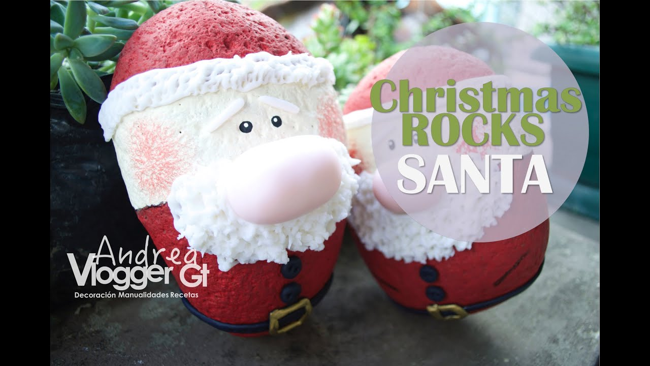 christmas rocks santa painted rocks 13
