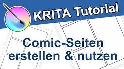 Comic-Seiten in Krita erstellen - Vorlagen und Comic Creator für Krita