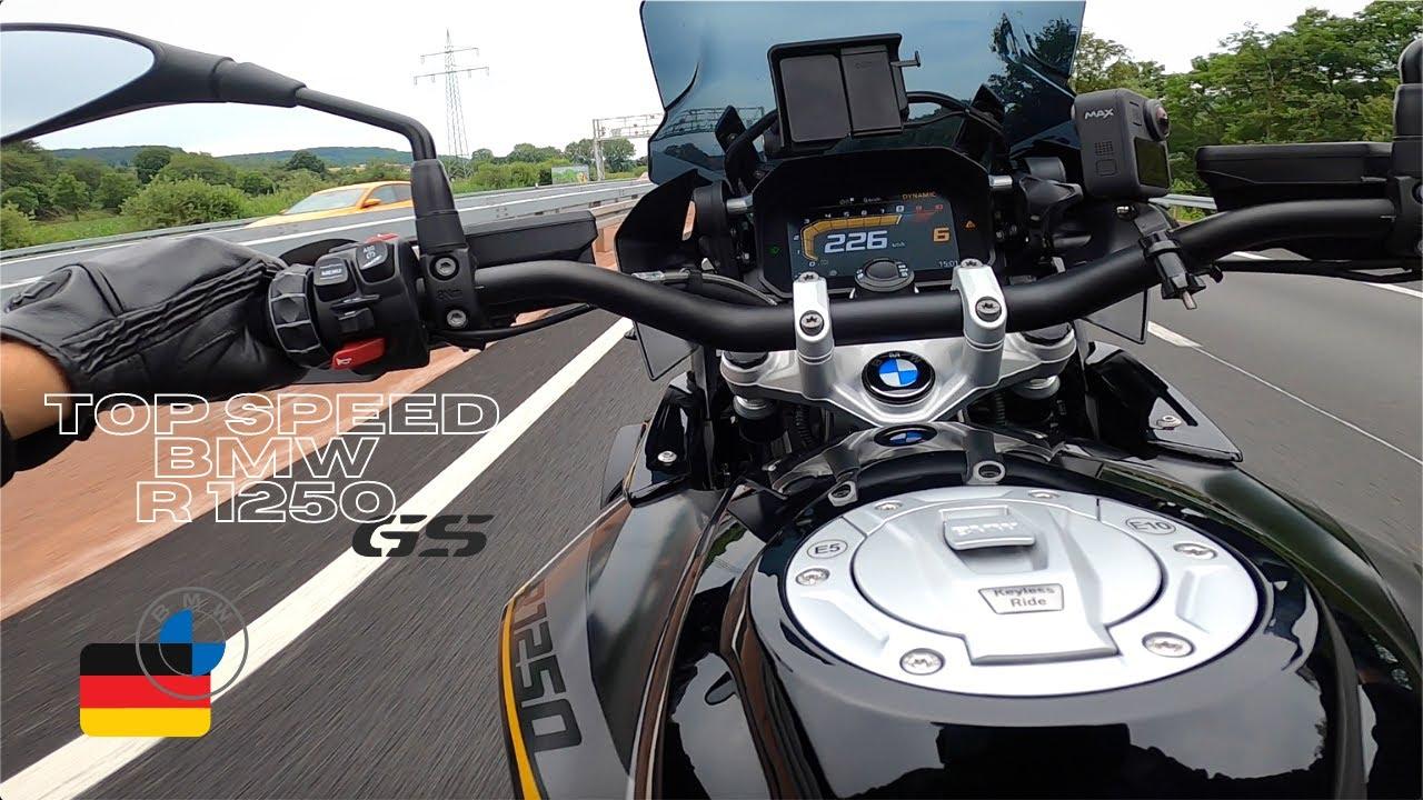 JE POUSSE AU MAXIMUM MA BMW R 1250 GS : TOP SPEED AUTOBAHN !!!