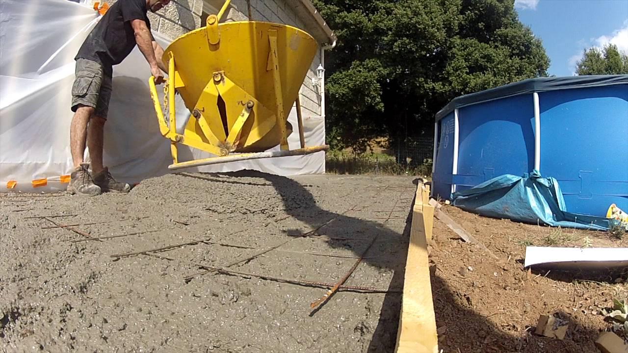 Réaliser Une Terrasse En Béton 1/2   YouTube