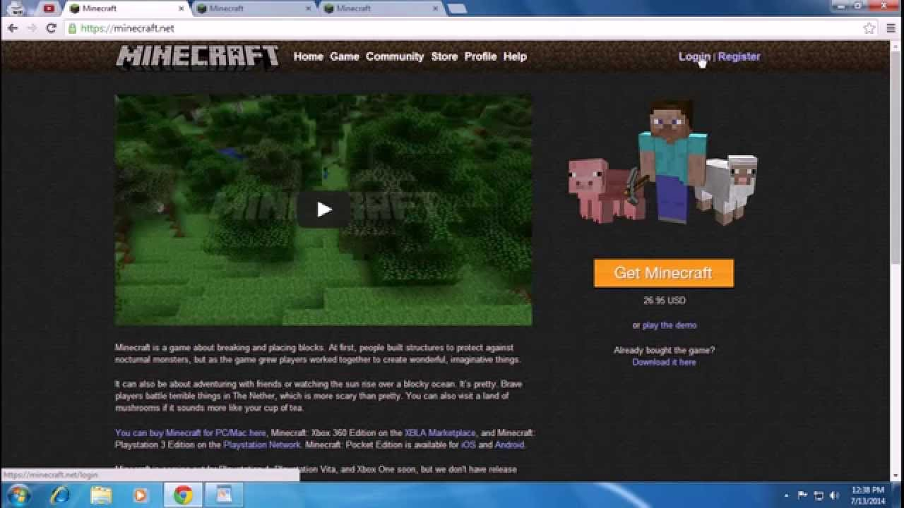 Create Minecraft Account 2014 (Free) - Minecraft Sign Up