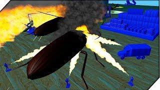 Нападение БОГОМОЛОВ - Игра Home Wars БИТВА насекомых и солдатиков. Мультик про солдатиков