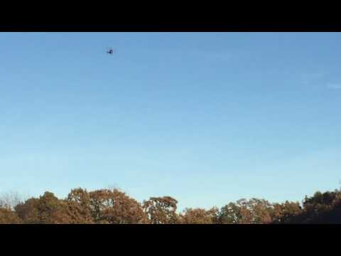 Highway Patrol Helicopter Searches During Manhunt Near Camdenton, Mo