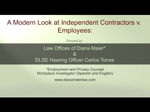 Lunchtime Legal Chat 2: A Modern Look at Contractors v  Employees, October 14, 2015