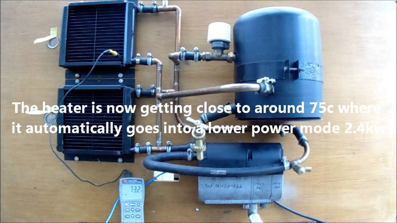 Eberspacher 12v Volt D4wsc Water Heater On Test Youtube