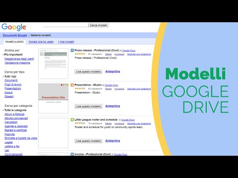 Creare Modelli in Google Drive