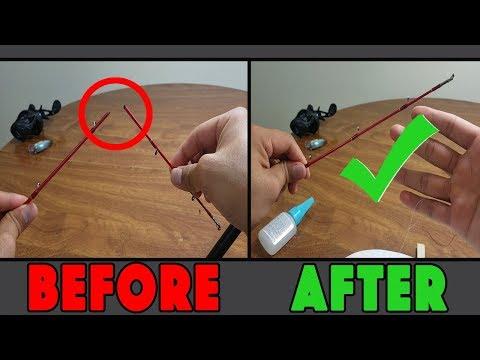 How To Fix A Broken Rod Tip (Amazing Korean Method)