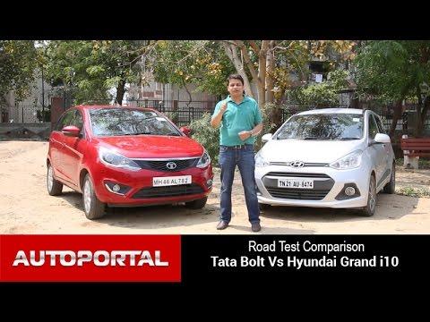 Tata Bolt Vs Hyundai Grand i10 Test Drive Comparison - Autoportal