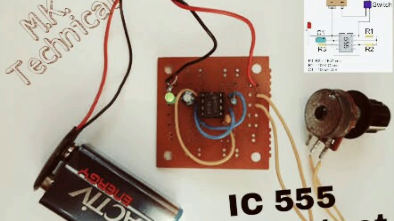 HOW TO MAKE SQUARE WAVE GENERATOR USING 555 TIMER IC