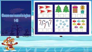 Natale Giocare con i numeri in inglese Giochino per bambini imparare a contare i numeri 1-10