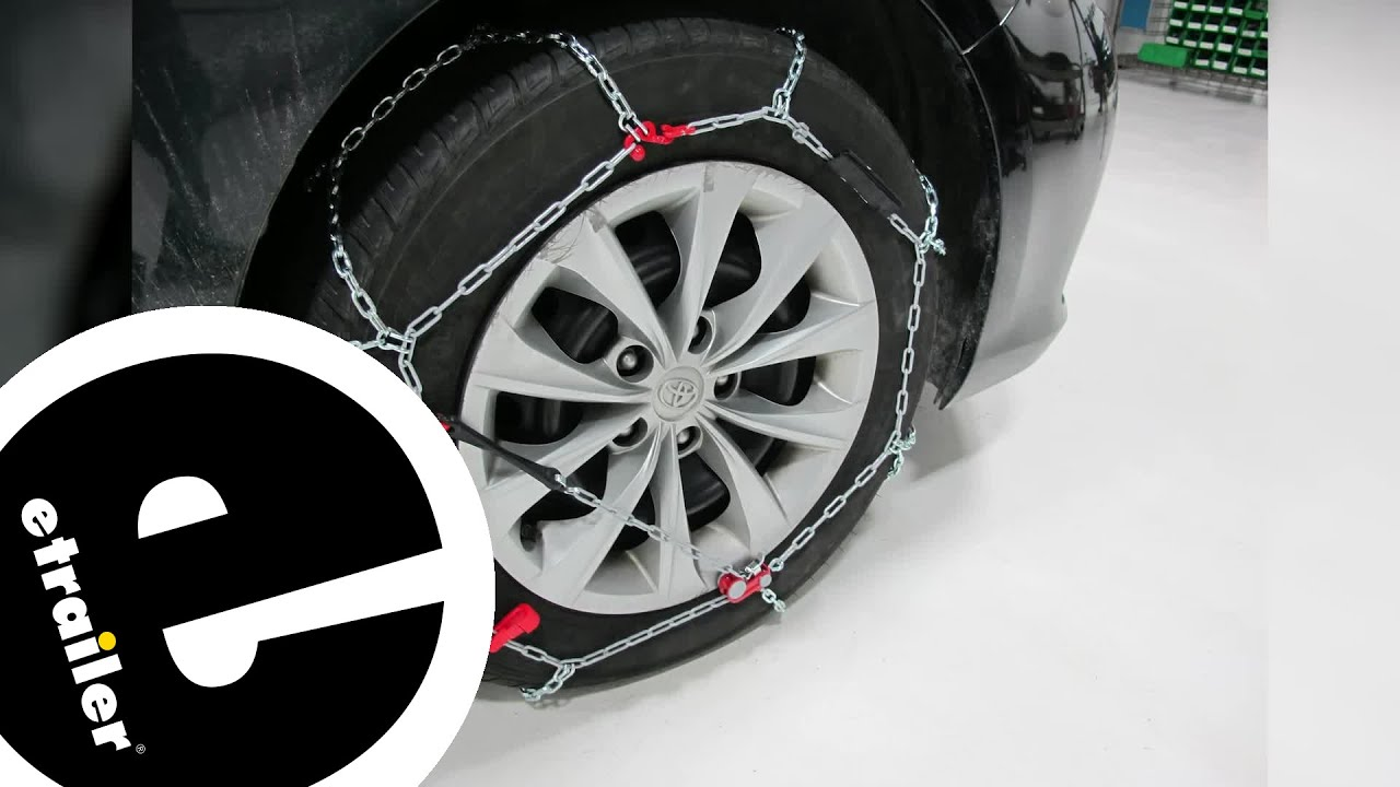 Konig Standard Snow Tire Chains Review 2016 Toyota Camry Etrailer