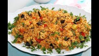Patlıcanlı Sebzeli Bulgur Pilavı Tarifi, Nasıl Yapılır?