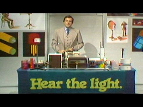Bell Labs' Henry Feinberg Demonstrates Ways of Using Light t