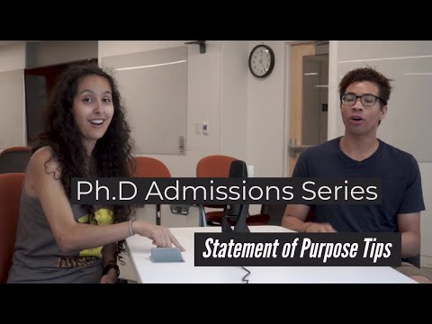 Ph.D Admissions Series: Statement Of Purpose Tips