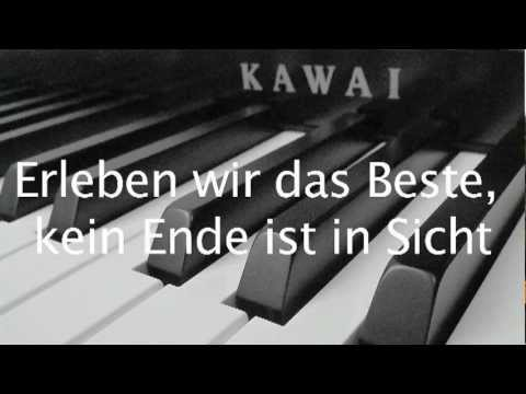 Die Toten Hosen - Tage wie diese (Lyrics and Piano Cover)
