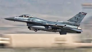 F-16 Fighter Jets Takeoff At Bagram Airfield Day & Night