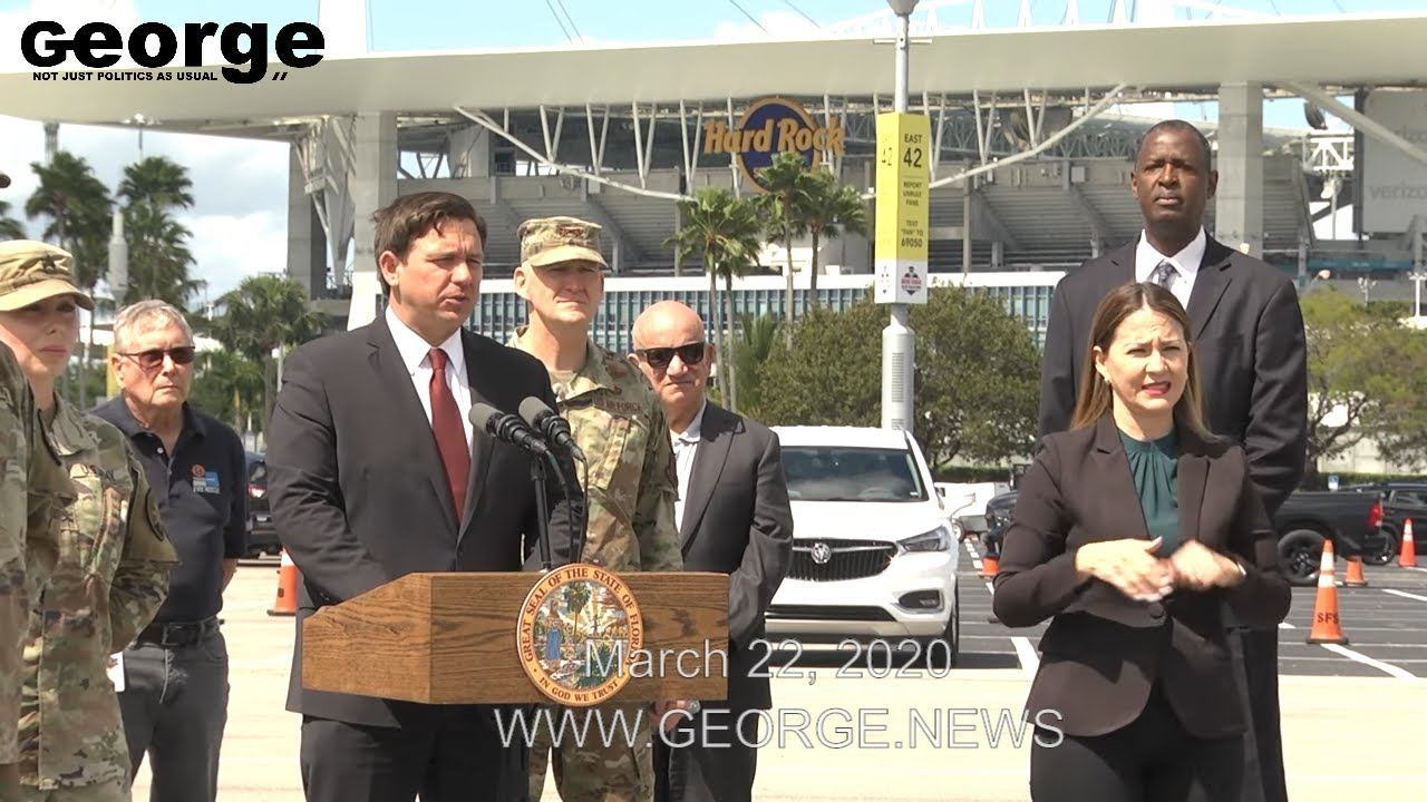 Governor Ron DeSantis's COVID-19 Press Conference at Hard Rock Stadium, Part 1, MARCH 22, 2020