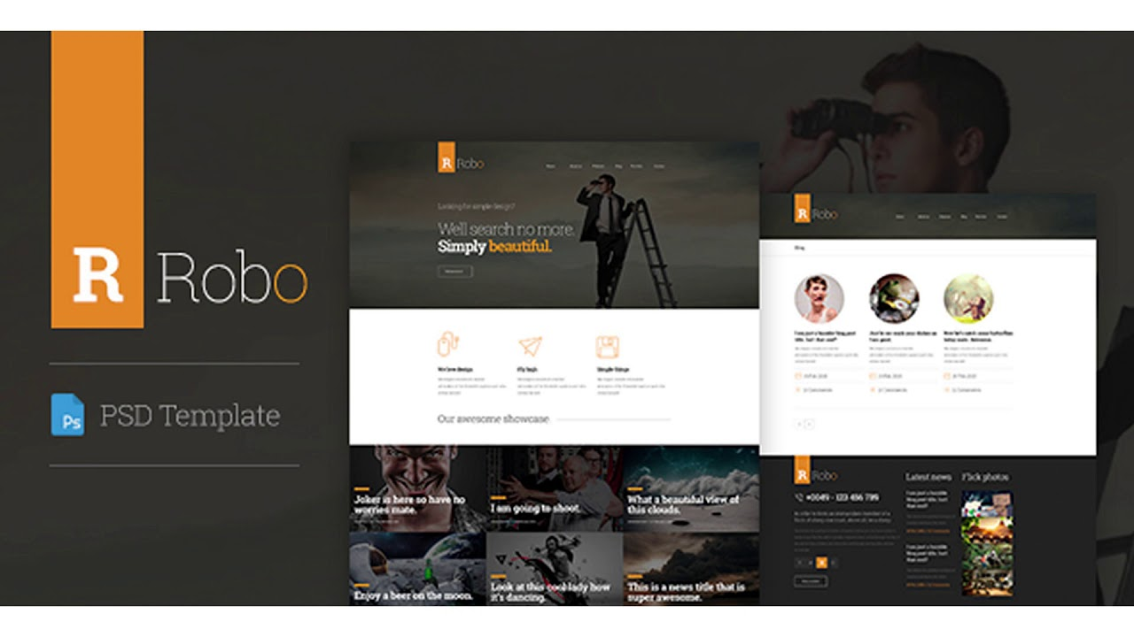Robo Creative PSD Template   Themeforest Website Templates and Themes