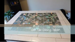 DIY Tile Dining Table